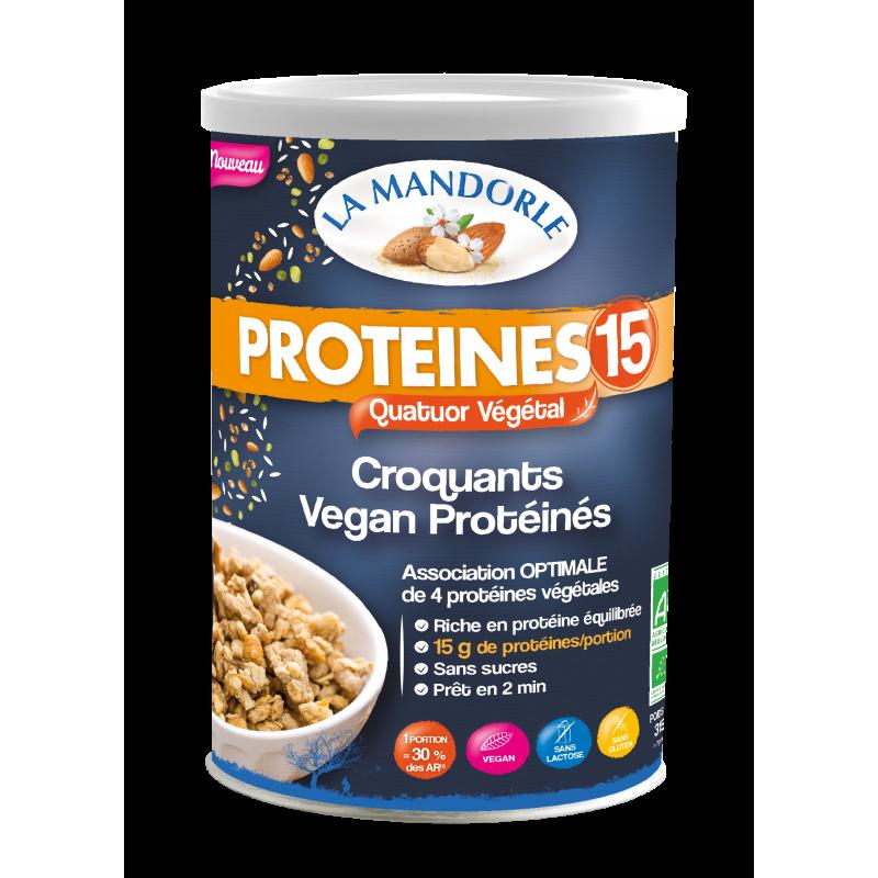 Croquants Vegan Protéinés - PROTEINES 15 - LA MANDORLE - 15 g de protéines/portion